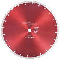 vidaXL Disco de corte de diamante aço 350 mm