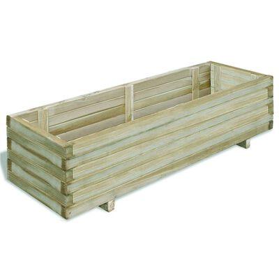 vidaXL Canteiro elevado 120x40x30 cm madeira retangular