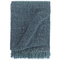 vidaXL Manta em algodão 125x150 cm azul índigo