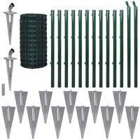 vidaXL Cerca 25x0,8 m aço verde