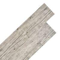 vidaXL Tábuas de soalho PVC 4,46 m² 3 mm cinzento-claro