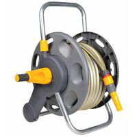 Hozelock Free Standing/Wall Mounted Hose Reel 60 m with 50 m Hose