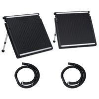 vidaXL Painel de aquecimento solar duplo para piscina 150x75 cm