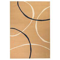 vidaXL Tapete moderno com design de círculos 140x200 cm castanho