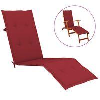 vidaXL Almofadão p/ cadeira de terraço (75+105)x50x4 cm vermelho tinto