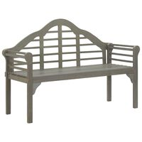 vidaXL Banco de jardim 135 cm madeira de acácia maciça lavado cinzento