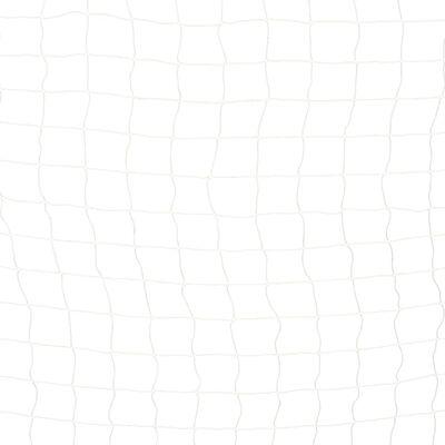 vidaXL Baliza de futebol 300x160x90 cm metal preto e branco