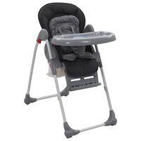 vidaXL Cadeira de refeição para bebé cinzento
