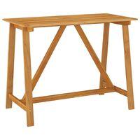 vidaXL Mesa de bar para jardim 140x70x104 cm madeira de acácia maciça