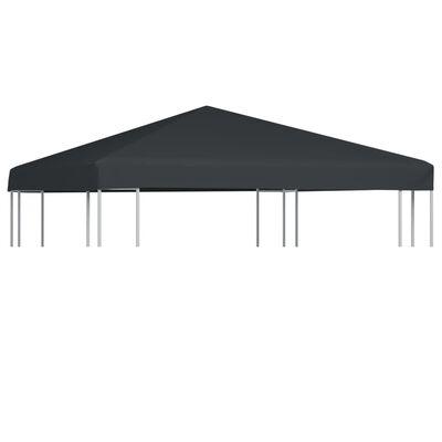 vidaXL Cobertura de gazebo 310 g/m² 3x3 m cinzento