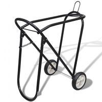 Estante sela de metal com rodas