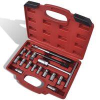 Conjunto cortador de base, injector diesel, 17 peças
