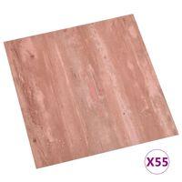 vidaXL Tábuas de soalho autoadesivas 55 pcs 5,11 m² PVC vermelho