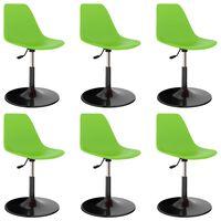vidaXL Cadeiras de jantar giratórias 6 pcs PP verde