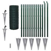 vidaXL Cerca 25 x 1,0 m aço verde