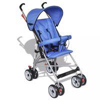 Carrinho de Bebê Contemporâneo para Viagem/Casa em Azul
