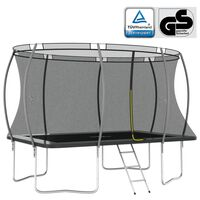 vidaXL Conjunto de trampolim retangular 335x244x90 cm 150 kg