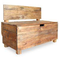 vidaXL Banco em madeira reciclada maciça 86x40x60 cm