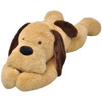vidaXL Cão de peluche castanho 80 cm