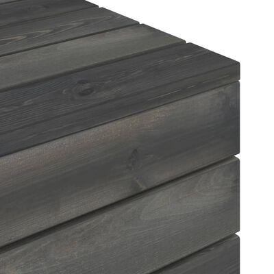 vidaXL Mesa em paletes para jardim pinho maciço cinzento-escuro