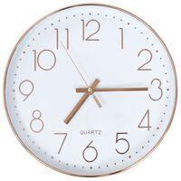 vidaXL Relógio de parede 30 cm rosa dourado