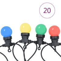 vidaXL Cordão lâmpadas exterior 20 pcs decoração de natal redondo 23 m