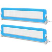 vidaXL Barra de segurança para cama de criança 2 pcs 150x42 cm azul