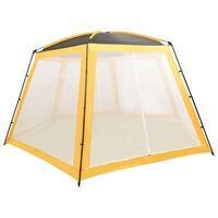 vidaXL Tenda para piscina 590x520x250 cm tecido amarelo
