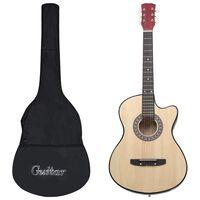 "vidaXL 12 pcs conjunto de guitarra acústica cutaway com 6 cordas 38"""