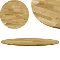 vidaXL Tampo de mesa madeira de carvalho maciça redondo 23 mm 900 mm