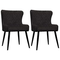 vidaXL Cadeiras de jantar 2 pcs veludo preto