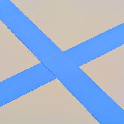 vidaXL Colchão de ginástica insuflável c/ bomba 700x100x10 cm PVC azul, Blue