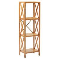 vidaXL 4-Tier Shelf 40x30x125 cm Solid Oak Wood