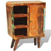 vidaXL Armário vintage com 1 porta madeira reciclada maciça