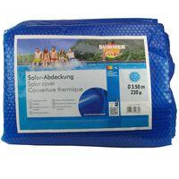 Summer Fun Cobertura solar de piscina redonda 350 cm PE azul