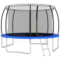 vidaXL Conjunto de trampolim redondo 366x80 cm 150 kg