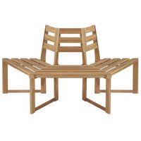 vidaXL Banco para árvore semi-hexagonal 160 cm madeira acácia maciça