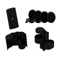 Caixa para joias com 3 gavetas - preta