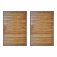 vidaXL Tapetes de casa de banho 2 pcs 60x90 cm bambu castanho
