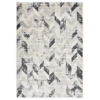 vidaXL Tapete 80x150 cm PP cinzento e branco