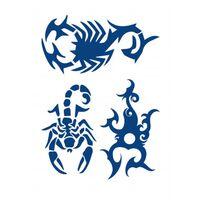 Fingir Tatuagem 3 Motivos Diferentes Azul