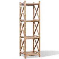 Estante de bambu quadrado com 4 níveis