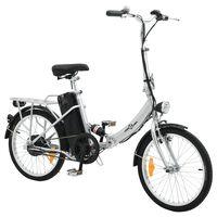 vidaXL Bicicleta elétrica dobrável bateria iões lítio liga de alumínio