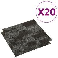 vidaXL Ladrilhos de carpete para pisos 20 pcs 5 m² antracite