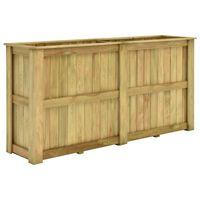 vidaXL Canteiro elevado 196x50x100 cm madeira pinho impregnada