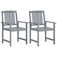 vidaXL Cadeiras jardim 2 pcs madeira de acácia maciça cinzento