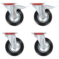 vidaXL 8 pcs rodas giratórias 160 mm