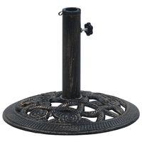 vidaXL Base para guarda-sol 9 kg 40 cm ferro fundido preto e bronze