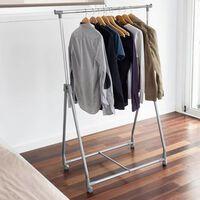 Storage solutions Suporte para roupa com 4 rodas metal