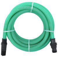 vidaXL Mangueira de sucção com conectores de PVC 7 m 22 mm verde